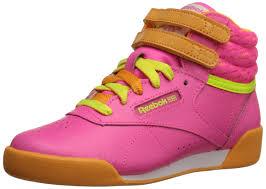 reebok high tops classic. amazon.com   reebok freestyle high classic shoe (little kid/big kid) fitness \u0026 cross-training tops