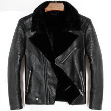 2019 mens genuine leather er pilot jacket sheepskin winter thick warm liner cashmere fur collar black luxury coats plus size 5xl from fitzgerald10