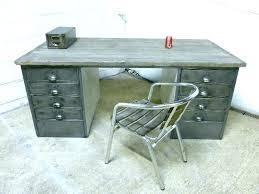 retro office desks. Gray Office Desk Retro Vintage Industrial Polished Steel Desks 3