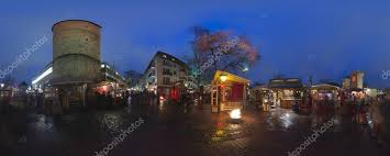 High Quality Hannover, Germany   December 18, 2014: Christmas Illumination On Streets In  The Center Of Hannover. 360 Degree Panorama.