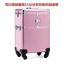 large beauty case trolley professional makeup pattern embroidery tool box multi layer large capacity nail