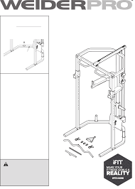 Weider Pro Olympic Cage Bench 14933 Users Manual