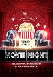Free Movie Night Flyer Templates Movie Night By Elegantflyer