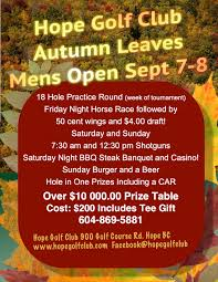 <b>Men's Autumn</b> Leaves Tournament <b>2019</b> - Hope Golf <b>and</b> Country ...