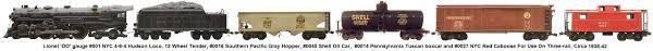 lionel trains lionel prewar oo gauge 001 nyc hudson black steam loco 001w
