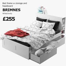 ikea brimnes bed. IKEA BRIMNES Bed 1 3D Model Ikea Brimnes I