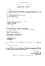 Letter Of Origin Directorate General Of Foreign Trade Dgft Approval Authorization