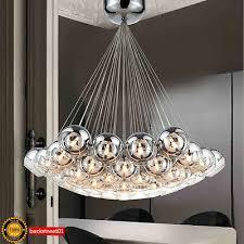 new modern chrome glass bubble led