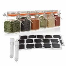 24 count 4 oz e jars glass jar with airtight lid mini square glass e jars