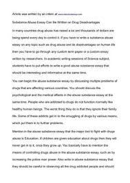 drug essay
