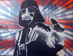 darth vader spray paint art by thestreetcanvas