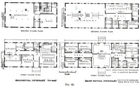 two story office building plans. Interesting Building Floor Plans Of Regimental Infirmary And Camp Dental Throughout Two Story Office Building Plans