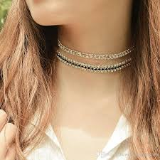 2019 new copper beads rhinestone choker collar necklace for women girls simple neck chocker jewelry whole xr710 from newestfashionitems 2 76 dhgate