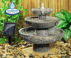 Amazoncom  Smart Solar Blue Ceramic Cascade Outdoor Bird Bath Solar Garden Fountain