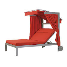 double chaise lounge with adjule canopy