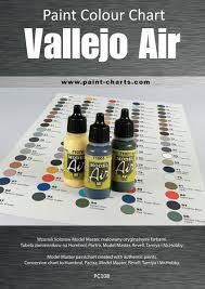 Paint Colour Chart Vallejo Air 12mm