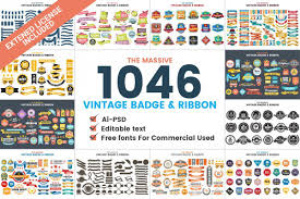 For merchandise uses, you always need to purchase a single license or subscribe. 1046 Vintage Badge Ribbon 56016 Logos Design Bundles Vintage Graphic Design Free Graphics Business Card Logo