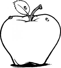 apple fruit drawing realistic. fruit coloring sheet printable pages apple drawing realistic