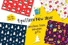 Christmas Print Seamless Pattern Pack Graphic By Koni Creative Fabrica