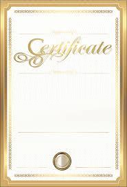 Paper Academic Certificate Gold Certificate Gold