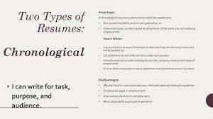 Two Types Of Resumes Bell Ringer Discussion Ppt Download