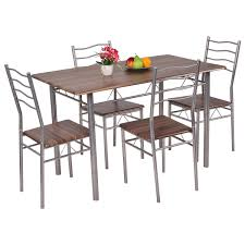 Best Choice Products 5 Piece Kitchen Dining Table Set W Glass