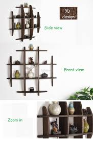 solid wood antique wall shelves shelf display wall decoration rack