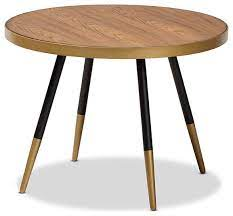 in stock lauro round walnut wood and