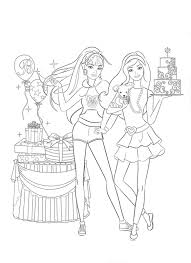 Quick Barbie A Fashion Fairytale Coloring Pages To Print Barbie
