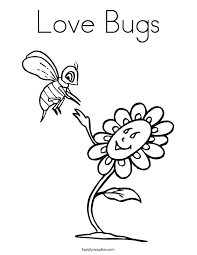 Small Picture Love Bugs Coloring Page Twisty Noodle