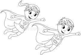 Boy Girl Superhero Superhero Girl And Boy Coloring Pages