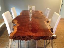 Live Edge Table Live Edge Dining Table Live Edge Redwood Table