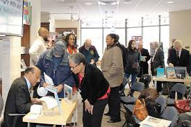 why are they angry us essays on race new pittsburgh courier worth the wait people line up to get dean larry davis book signed