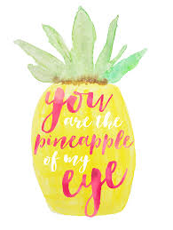 You Are The Pineapple Of My Eye Words To Live By Words Quotes