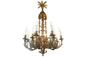 large french gas chandelier with a beautiful bronze patina 19th century photo 1