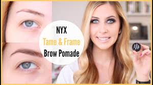nyx tame frame brow pomade review makeup minute