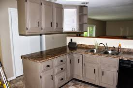 small space kicthen creamy chalk paint kitchen cabinets brown