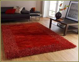 burnt orange rug next