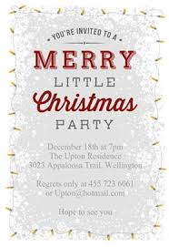 Free Christmas Invitations Printable Template