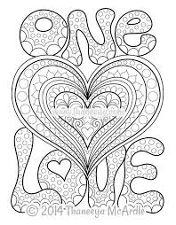 Small Picture Peace and Love Coloring Book by Thaneeya McArdle Thaneeyacom