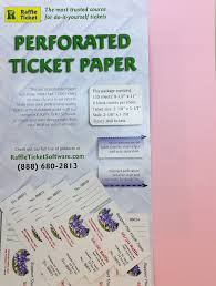 Perforated Raffle Ticket Sheets Perforated Raffle Ticket Sheets Www Topsimages Com