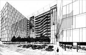 architectural building sketches. Apartment Plan Top Building Drawing Drawn Architectural Pencil And Sketches