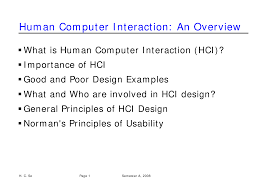 Importance Of Good Design In Hci Human Computer Interface Docsity