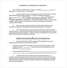 Subcontractor Contract Template Amazing Construction Contract Template Bravebtr Contracts Free Agreement