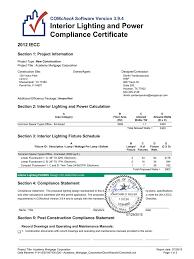 Interior Lighting Compliance Certificate Comcheck Manualzz Com