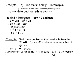 example b find the x and y intercepts