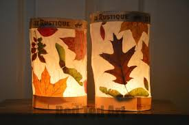 craft for autumn and thanksgiving leaf crafts for fall simple leaf lanterns for kids and preers lovely nature craft close x red ted art
