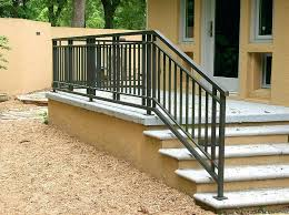 exterior stair railings style outdoor stair railing