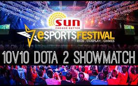 esports festival 10 v 10 dota 2 showmatch