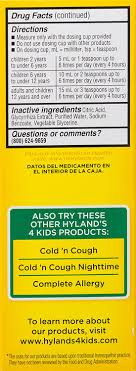 Hyland's 4 Kids Cold 'n Mucus Relief Liquid, Natural Relief of Mucus & Congestion, Runny Nose,...